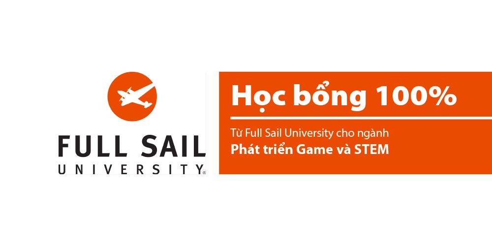 [Mỹ] Học bổng 100% từ Full Sail University cho ngành Phát triển Game và STEM